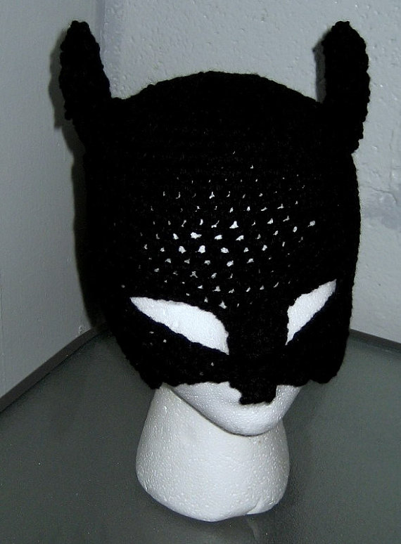 Batman Mask Hat Crochet Handmade Ready To Ship Today ...