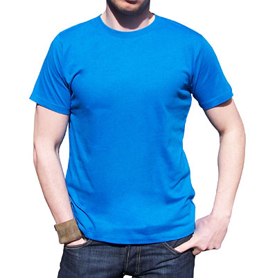 Men's royal blue organic t-shirt