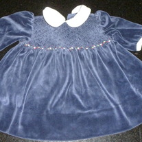 RALPH LAUREN BLUE DRESS SIZE 3 MONTHS