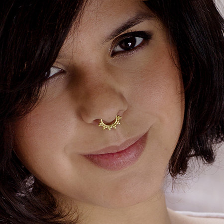 A Delicate Brass Septum For Non Pierced Nose - Nose ...
