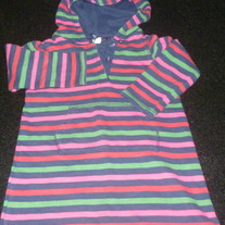 Navy/Red/Green/Pink Striped Hoodie-Baby Gap Size 4T