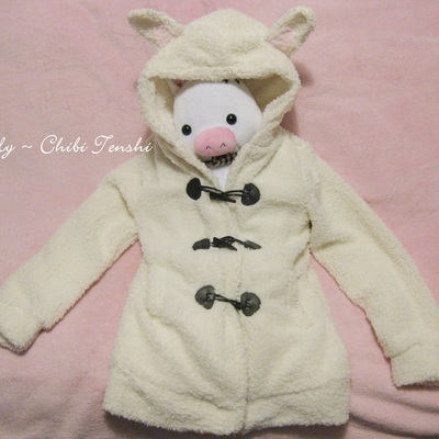 Plush rabbit coat
