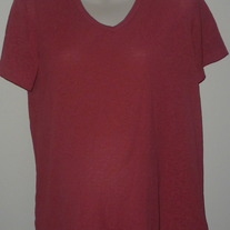 Dark Pink/Red Top-Baby and Me Size Large