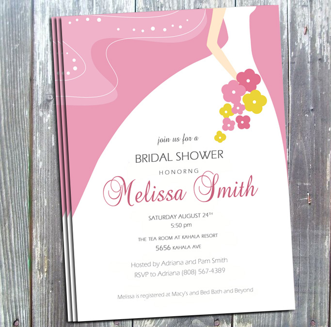 Bridal Shower Printable Invitation DIY