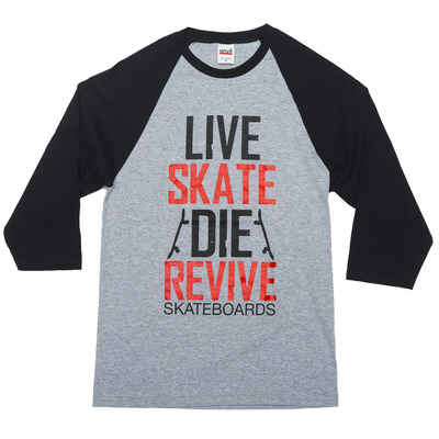 Skate revive - baseball tee