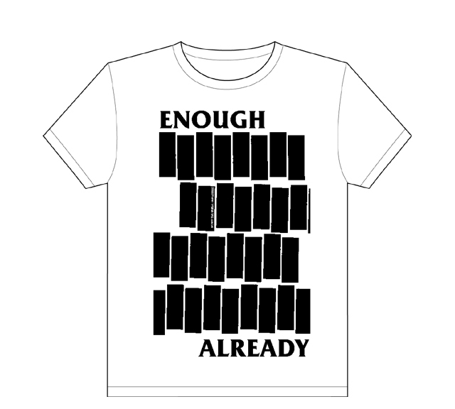 Enough Already, Black Flag parody shirt