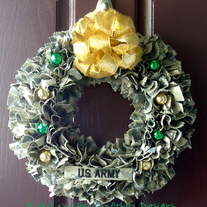 Holiday Army ACU Wreath