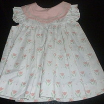 White Dress With Pink Flowers-O'Neal-Size 4T