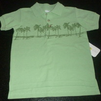 Green Shirt W/ Palm Trees-NEW-Starting Out Size 24 Months