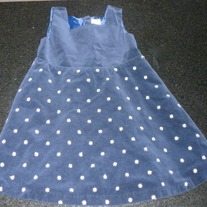 Navy Blue Velvet Dress-Baby Gap Size 3