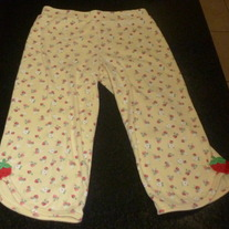 Yellow Capris With Strawberries-Gymboree Size 7