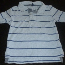 Blue Stripe Shirt With Collar-Baby Gap Size 3T