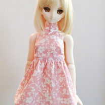 Light Pink Floral Halter Dress for M DD