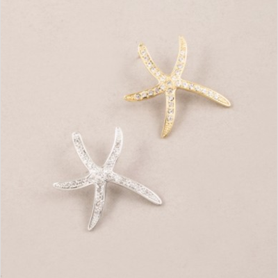 Shelly starfish stud earrings