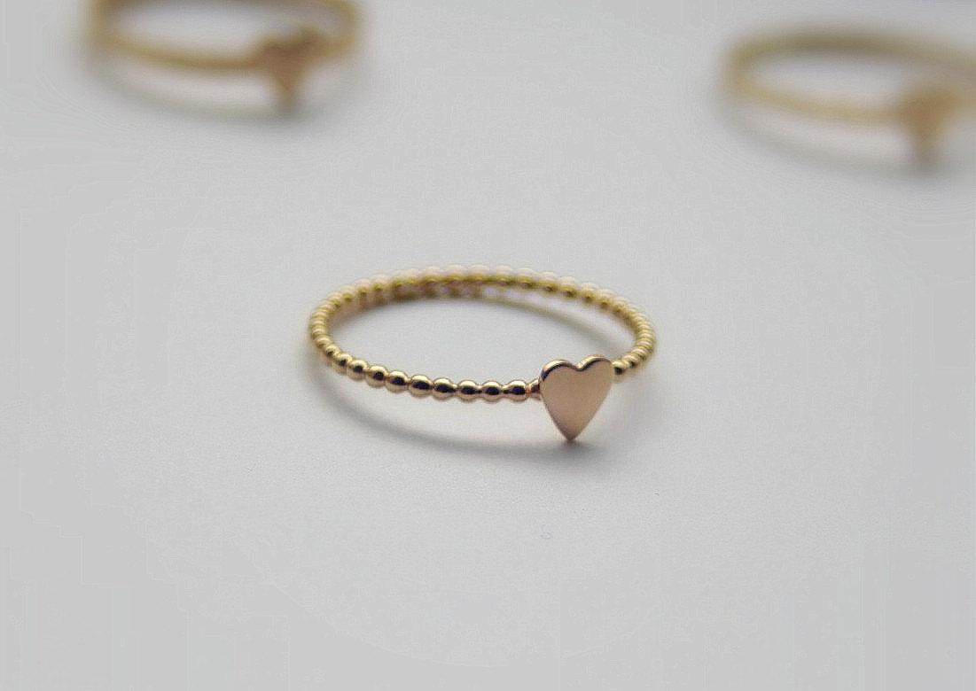 gold filled stacking ring tiny ring bridal