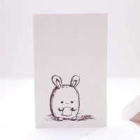 *sold* fat bunny note cards set of 6 - Thumbnail 2