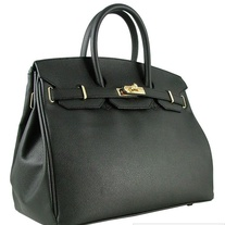 Italian Designer Leather Bag (Palmellato) Black