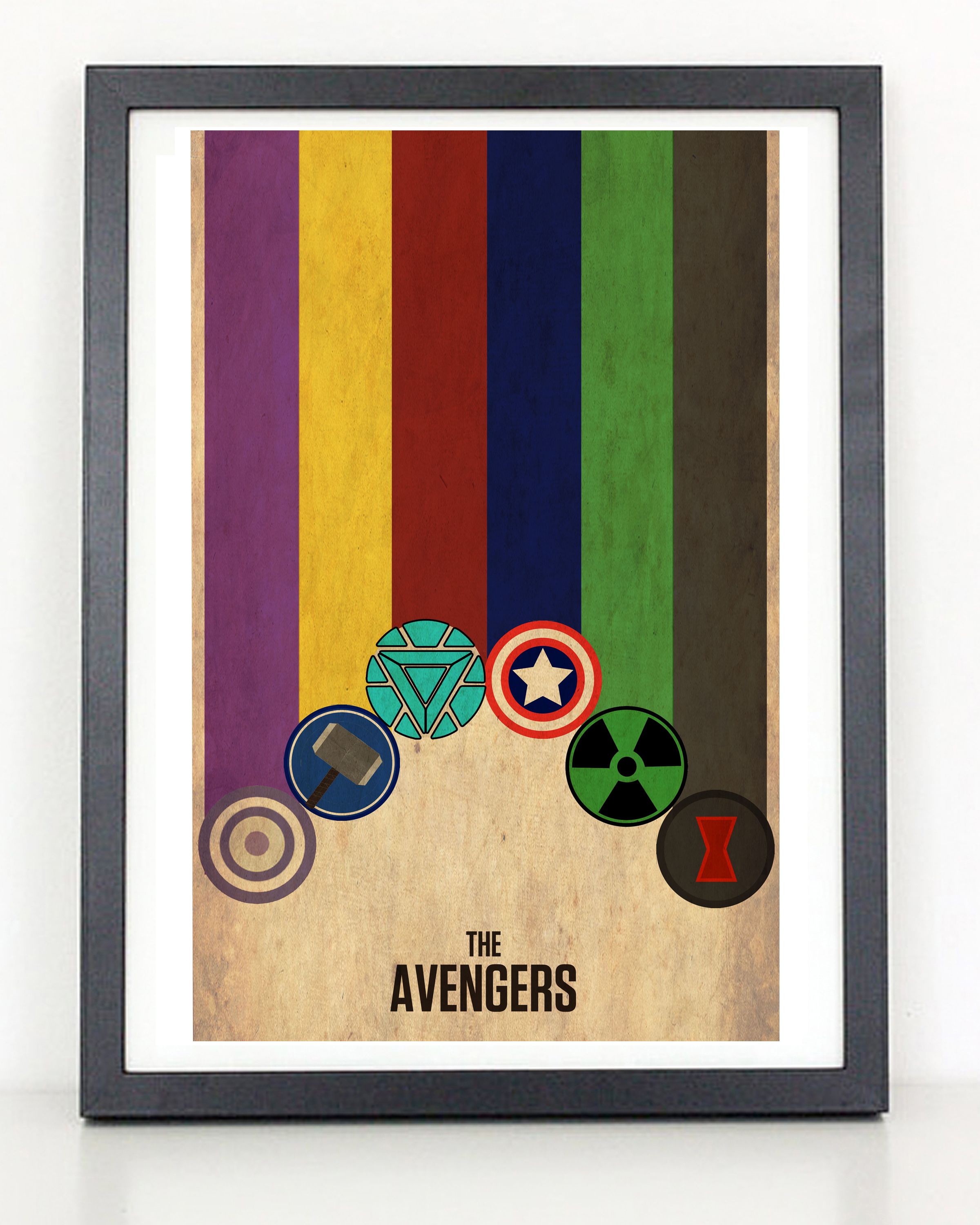 The Avengers Minimalist Poster- Thor, Captain America, Iron Man, Black ...: coliseumgraphics.storenvy.com/products/6615958-the-avengers...