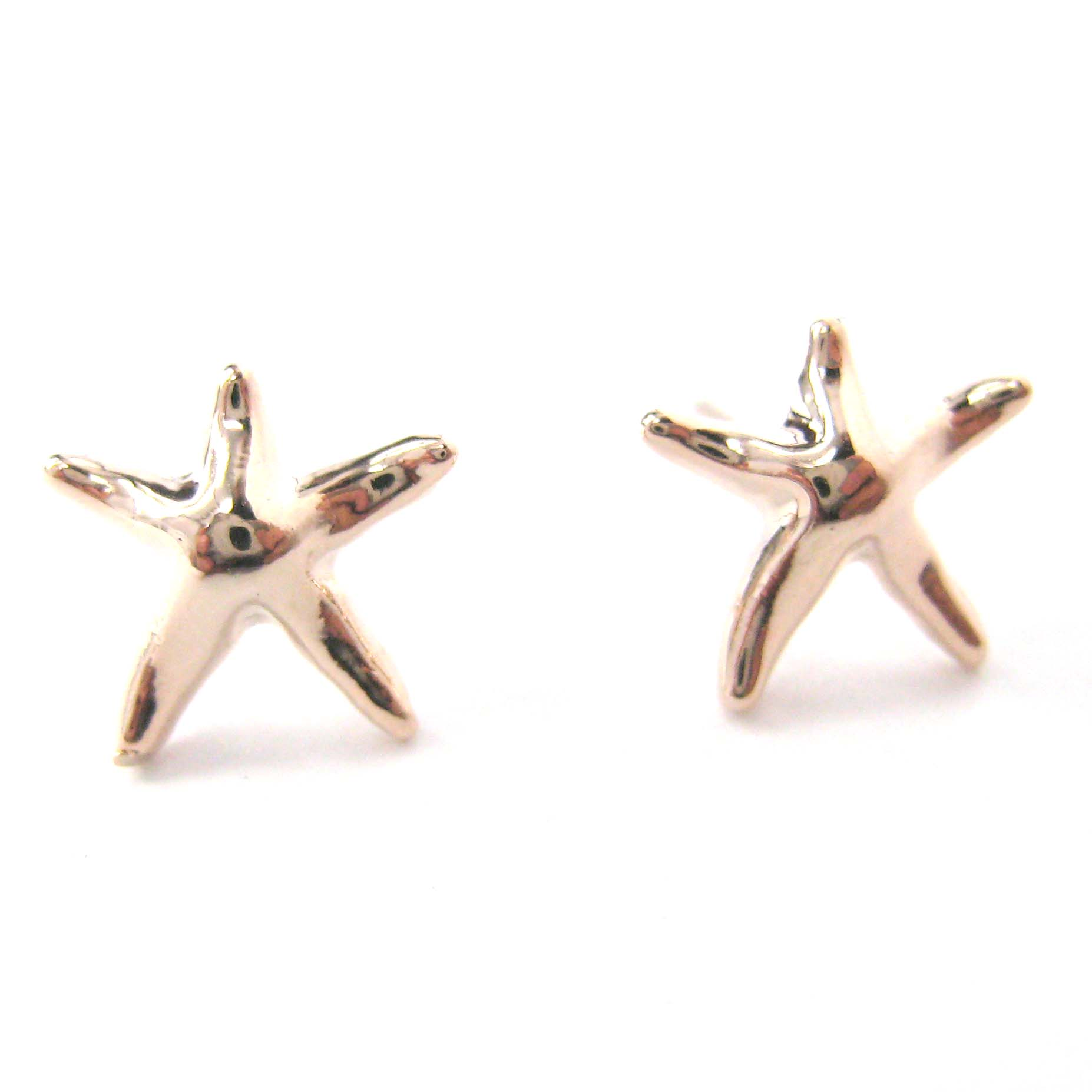 etoile piercing nez carats or taille starfish mer yellow gold nose stud jaune