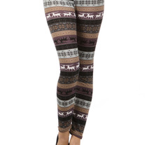 Reindeer Festive Knit Leggings- 3 Colors
