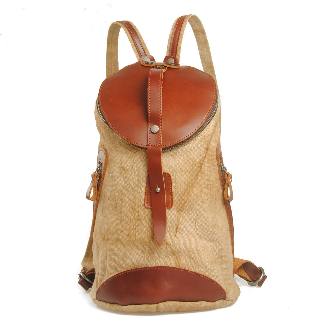 Canvas Bag Backpack Superior Genuine Cow Leather Briefcase ...