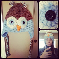 Crochet Owl Hat-Custom Colors