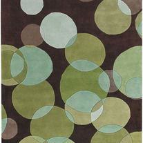 Contemporary Rugs Avalina Brown and Green