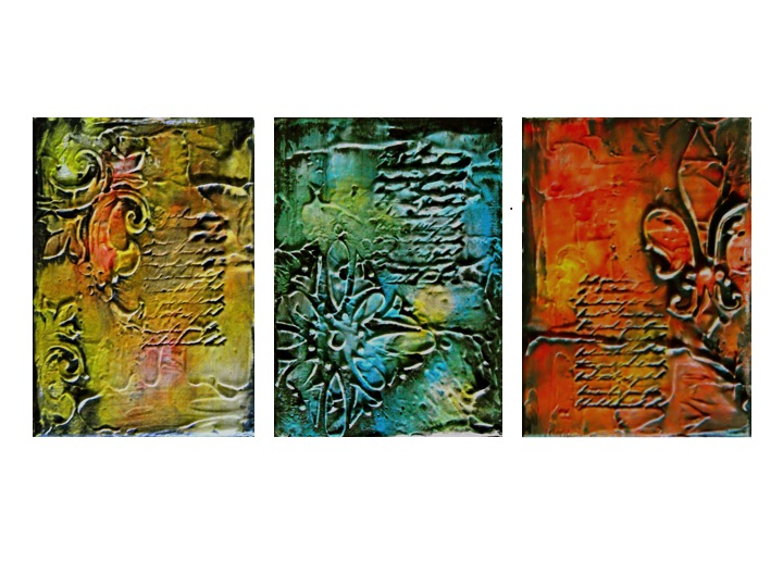 Textured Series II, Abstract Art Original Painting, Textured Mixed Media  For Home Decor