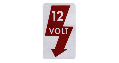 '67-'79 12V Door Jamb Decals