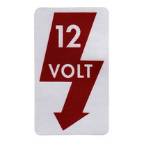 Door Jamb Decal — 12 Volt