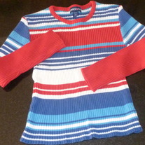 Red/Blue/White LS Ribbed Shirt-Limited Too Size 12