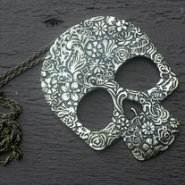 Skull Necklace (silver or brass)