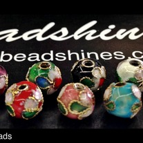 Cloisonne 8mm beads (12Pcs)