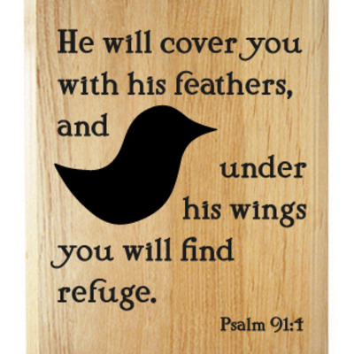 Psalm 91:4 plaque
