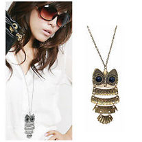 Vintage Style Big Eyed Owl Necklace - Assorted