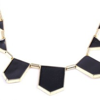 Black Geometric Chain Necklace