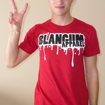 BLANGUM APPAREL Drips Logo (red)