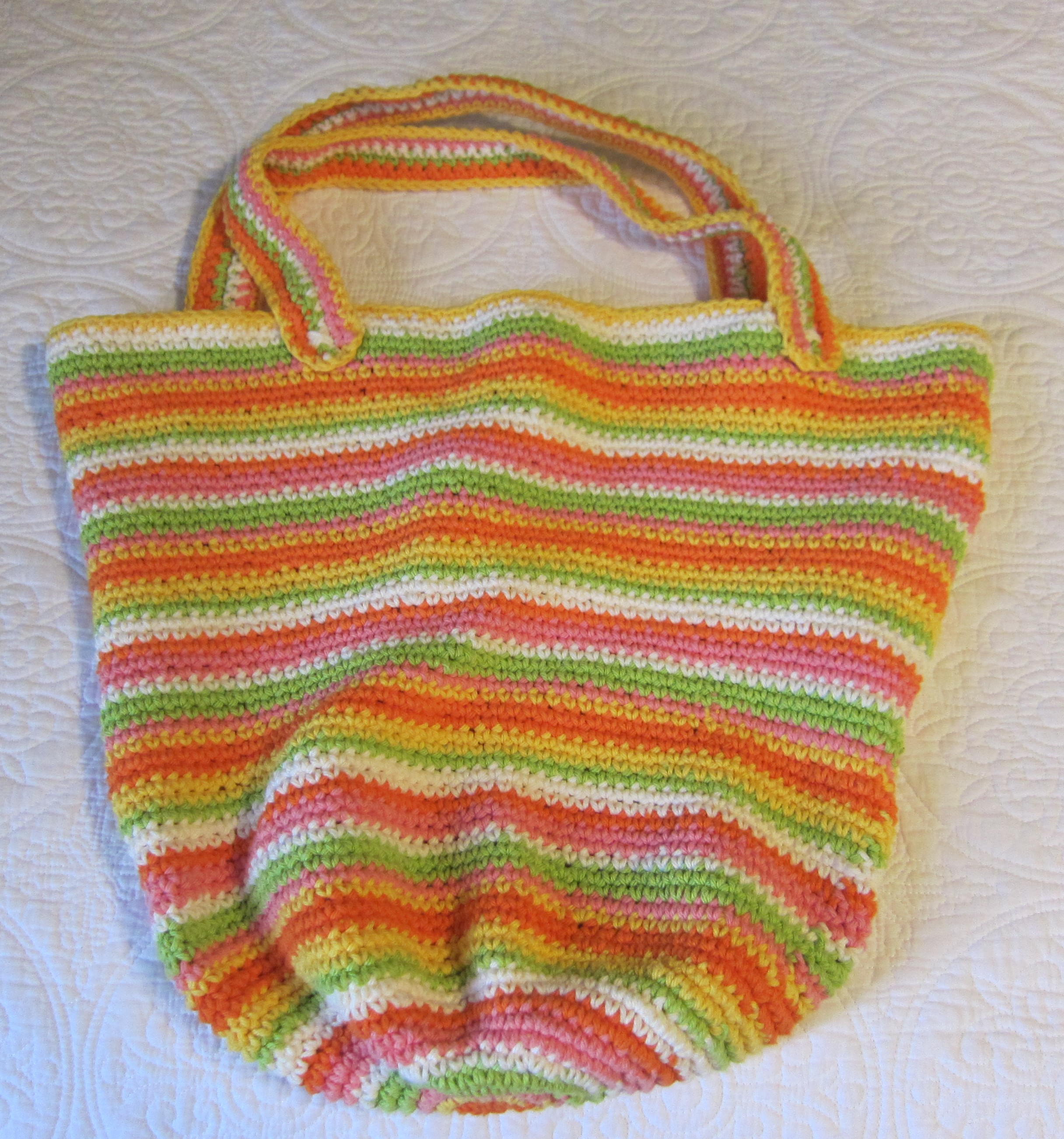 Crochet Beach Bag/Hobo Bag made with Cotton Yarn in Various Colors ...