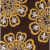 Contemporary Rugs Couture Brown and Yellow