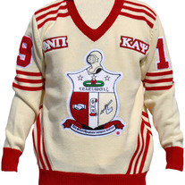 NEW Kappa Alpha Psi Wool Varsity Letterman V-Neck Sweater