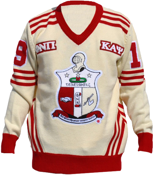 kappa alpha psi wool varsity letterman v neck sweater