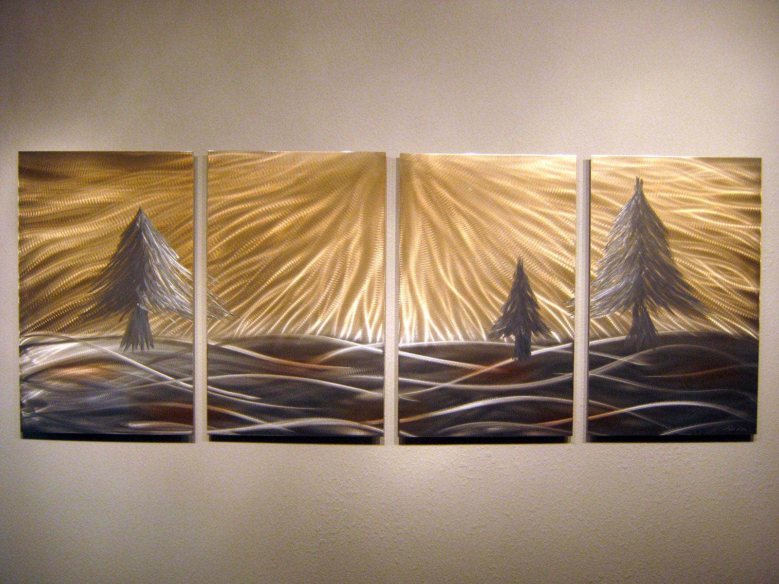 pine trees  abstract metal wall art contemporary modern decor  -  pine trees  abstract metal wall art contemporary modern decor thumbnail