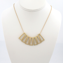 Gold Rectangular Statement Necklace