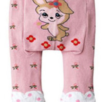 Bunny Legging Pants with Scrunchy Leg Girls Pink Dots Bows New Style