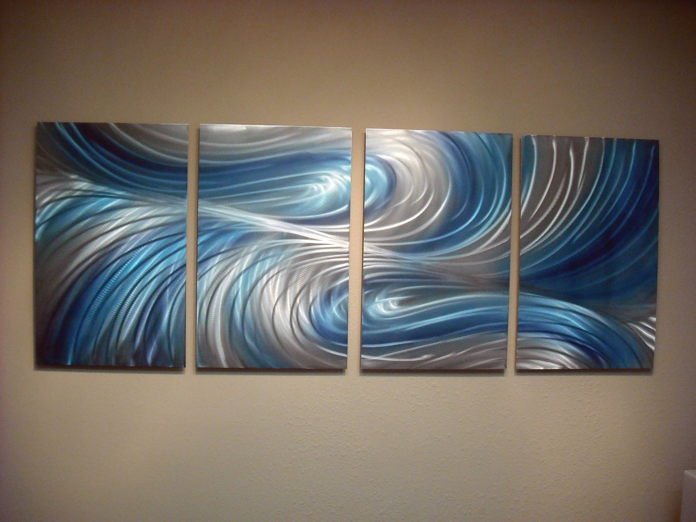 Echo 3 Blues - Abstract Metal Wall Art Contemporary Modern ...