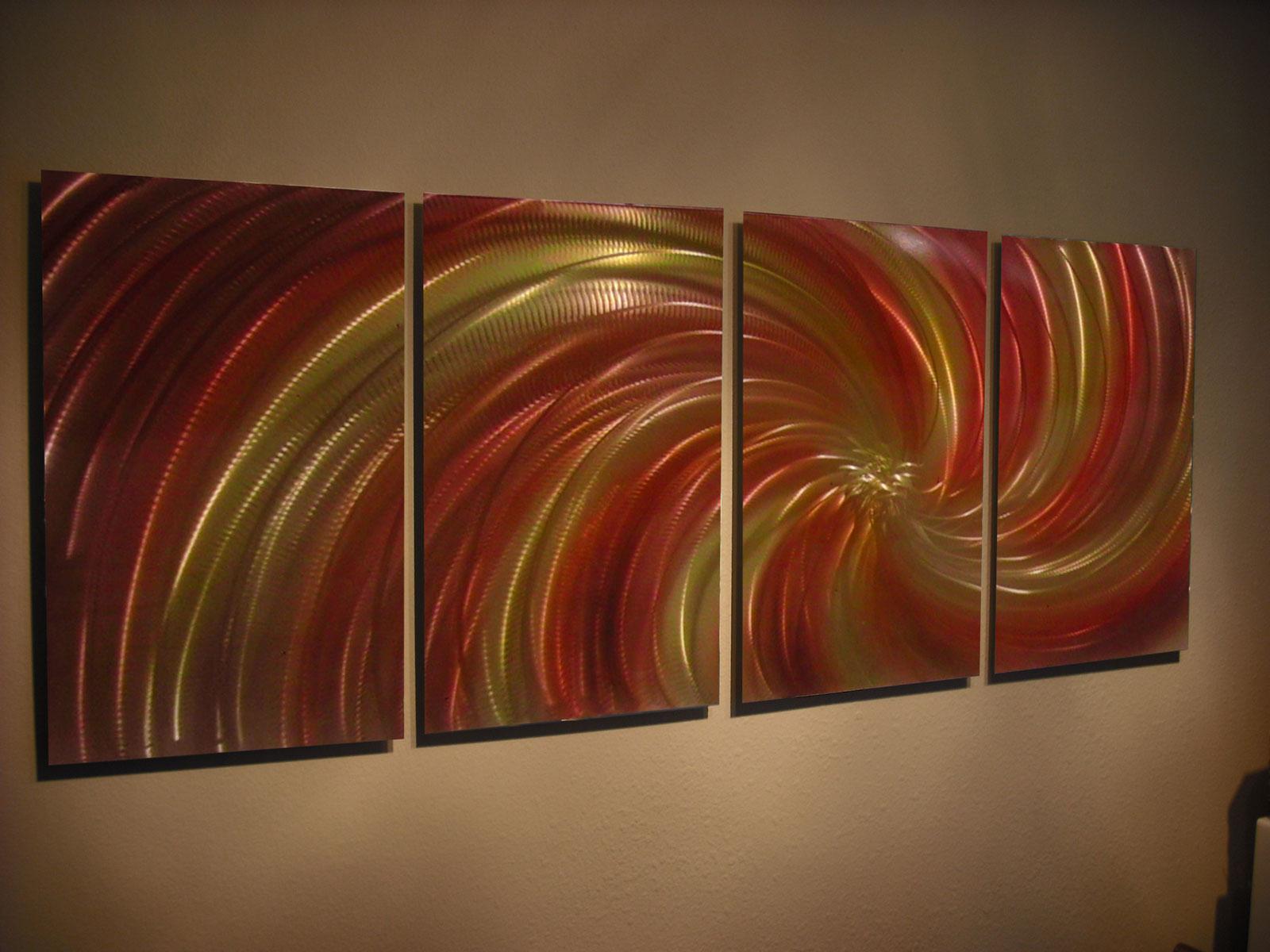 abstract metal wall art. Harvest - Abstract Metal Wall Art Contemporary Modern Decor