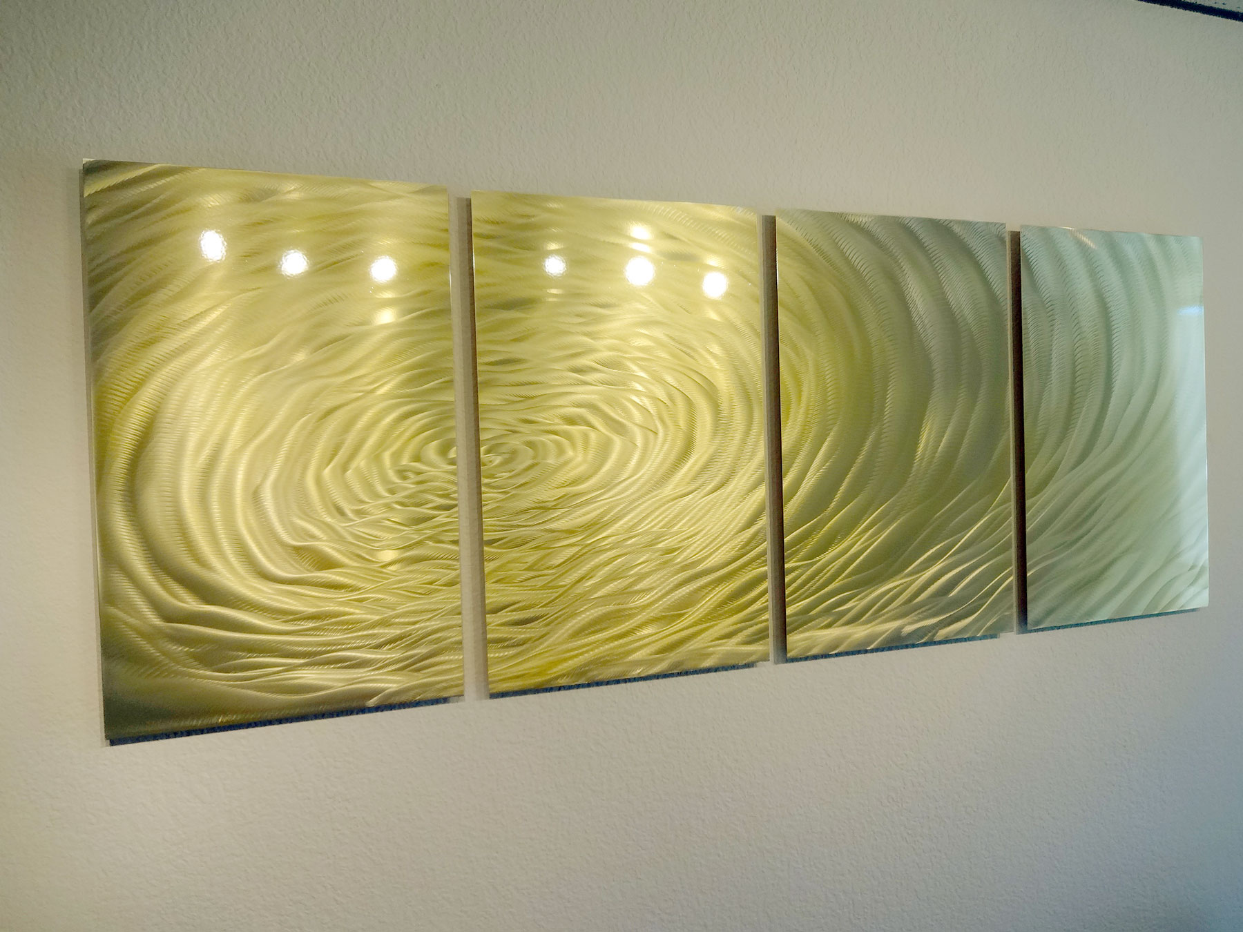 Gold Ripple- Metal Wall Art Abstract Contemporary Modern Decor ...
