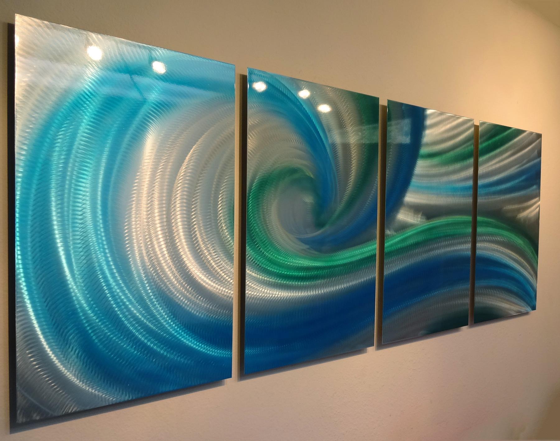 Spring crest metal wall art abstract contemporary modern decor inspiring art gallery online - Crest home design curtains ...