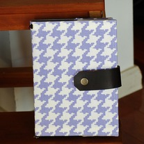 Fabric Covered A5 Journal - Classic Houndstooth