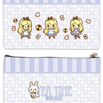 Tea Time With Alice Zipper Bag
